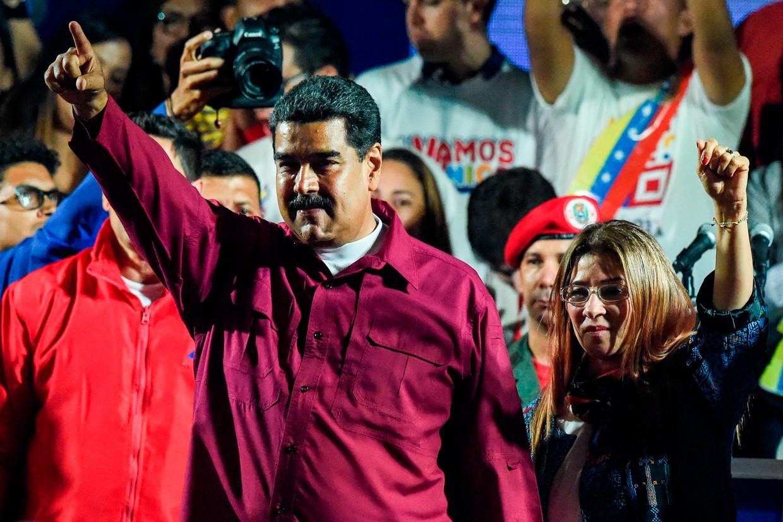 President Nicolás Maduro viert zijn tweede termijn als president van Venezuela.