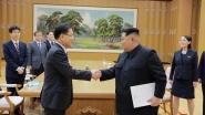 Kim Jong-un zit voor het eerst met Zuid-Korea om de tafel