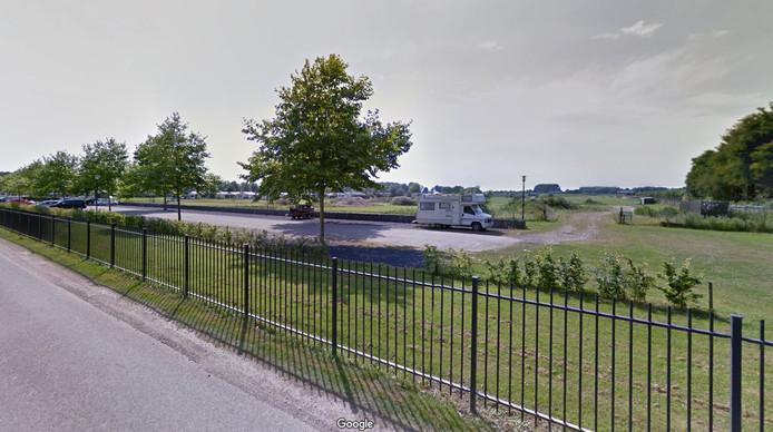 De plek waar het chaletpark moet komen.
