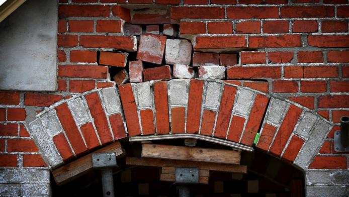 Aardbevingen door de gaswinning zijn verantwoordelijk voor veel schade aan huizen