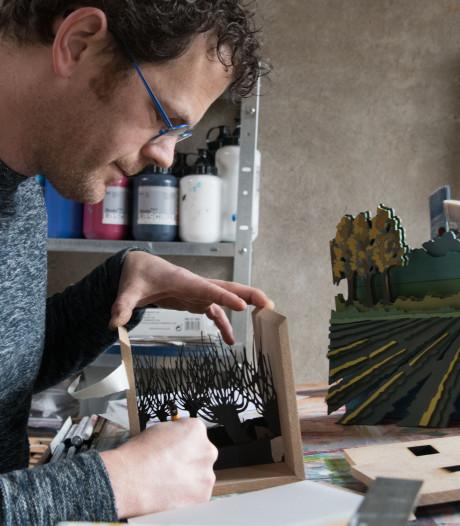 Nijkerkse kunstenaar Harm Visser maakt kijkdozen met diepgang