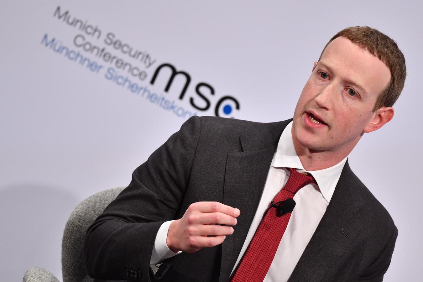 Topman Mark Zuckerberg van Facebook