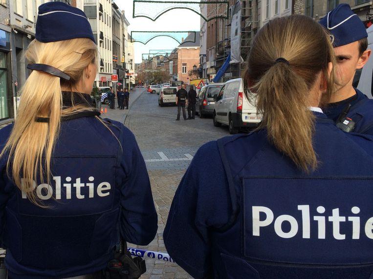 De politie sloot de straat af