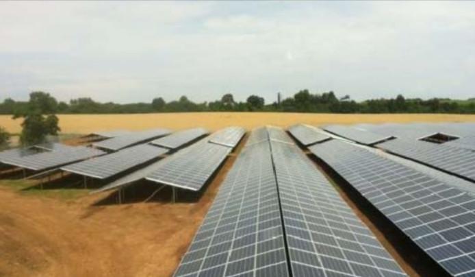 Impressie van het zonnepark bij Heesch-West.