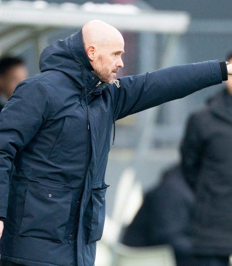Ten Hag over rechterkant Ajax in begin tweede helft: 'Dit was niet goed'