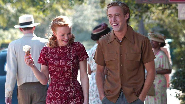 Rachel McAdams en Ryan Gosling in The Notebook van Nick Cassevetes Beeld