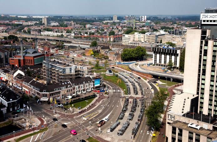 Utrecht - Westplein e.o. gezien vanaf SNS Reaaltoren (Foto Marnix Schmidt)