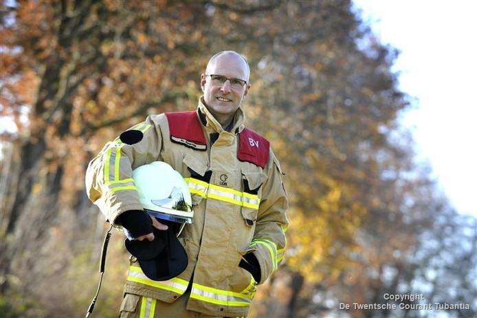 Bevelvoerder Henry Eppink van de brandweer Tubbergen vreest een verdere demotivatie van zijn brandweermensen.