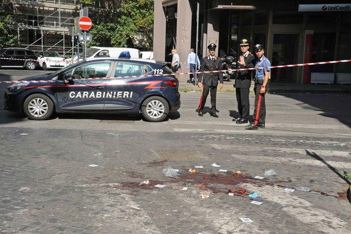 Le lieu du meurtre, près de la place Cavour, à Rome