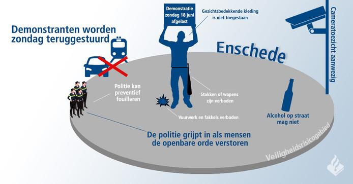 Enschede is vandaag aangewezen als veiligheidsrisicogebied