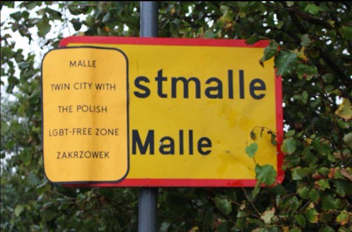'Solidarity Action Brussels' zette eind september druk op Malle vanwege haar band met een Poolse stad die de LGBT-gemeenschap niet tolereert.