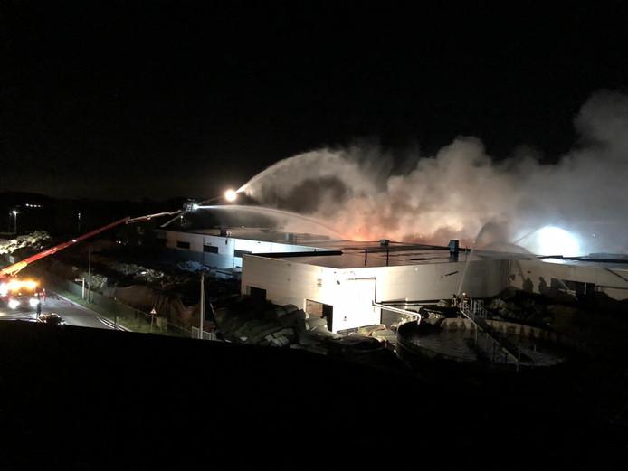 De brand bij Tuf Recycling in Dongen op donderdag 11 oktober.