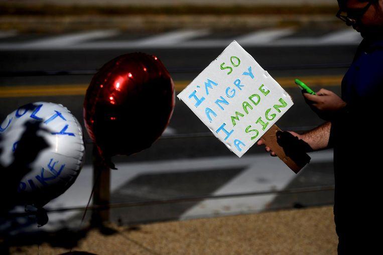 Vakbondsdemonstratie in Pennsylvania. Beeld reuters