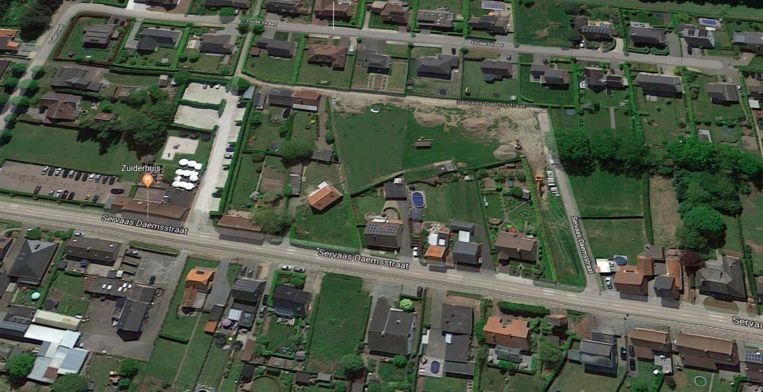 Op Google Maps is er nog geen sprake van de Armand Toremansstraat.
