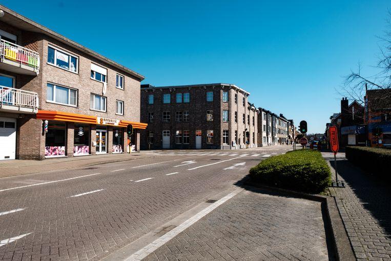 Borsbeek in lockdown. De Rabianostraat.