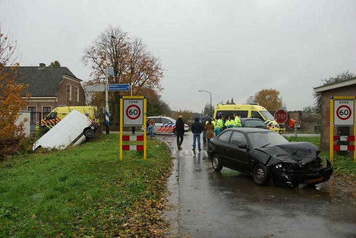 Meerdere gewonden bij ongeluk in Sprang-Capelle.