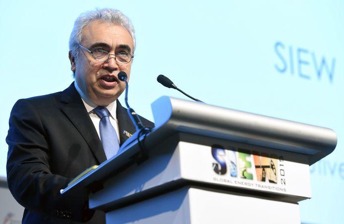 Fatih Birol, de directeur van het Internationaal Energie Agentschap (IEA).