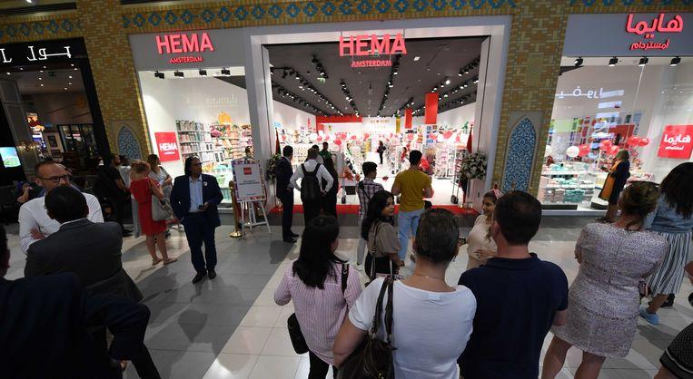 De openingsceremonie van een winkel van Hema in een winkelcentrum in Dubai. Beeld ANP