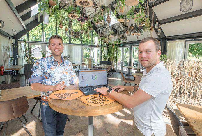 Nieky (l) en Jimmy Verlinde runnen De Vierlinden in Goes, maar maken nu ook een opmars met hun eigen reserveringssysteem.