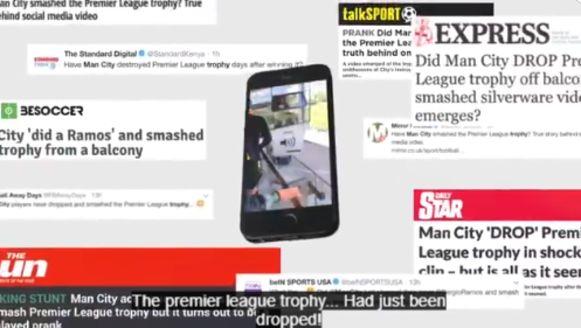 Heel wat Engelse media berichtten over het 'incident', maar zij werden dus bij de neus genomen door De Bruyne en Agüero.
