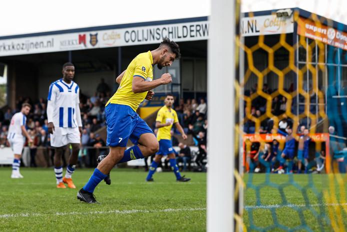 Jawad Bellahsan maakt de 3-1 vanaf de penaltystip