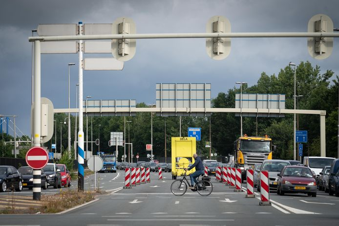 Beeld van het wegwerk in Arnhem eerder deze zomer.