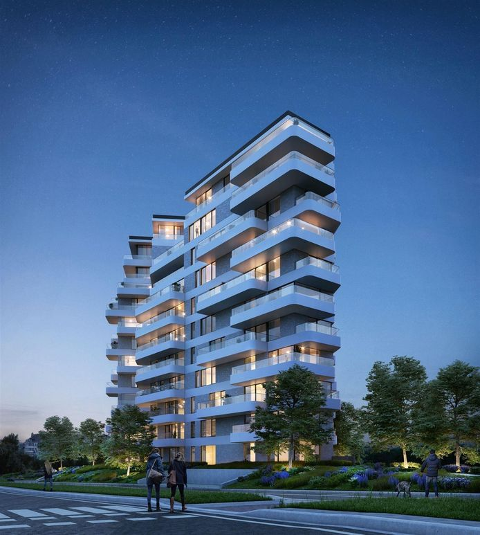 Blankenberge, The One, 2 slaapkamers, 78 m², 277.000 euro.