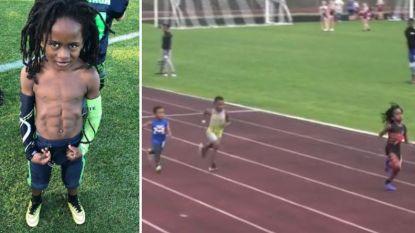 Stalen buikspieren als Lukaku, een versnelling als Bolt: maak kennis met 7-jarig 'wonder der natuur' dat enorme hit is op Instagram