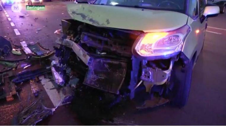 De schade aan het voertuig na het ongeval was enorm.
