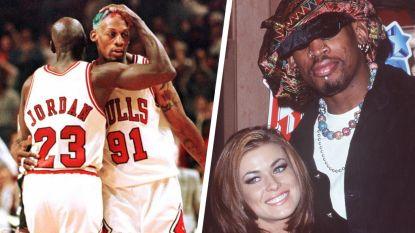 """Hoe Michael Jordan ploegmaat Dennis Rodman uit bed van Carmen Electra ging halen in Las Vegas: """"Komaan man, we moeten trainen"""""""