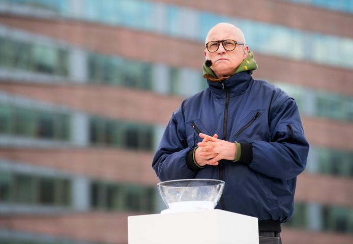Arjan Ederveen in de rol van Pilatus op het Arena Park tijdens de generale repetitie van de achtste editie van The Passion.