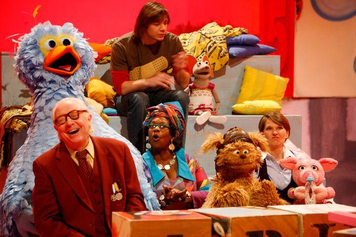 De cast van Sesamstraat.