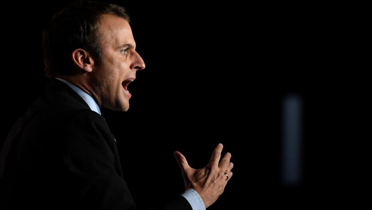 De Franse presidentskandidaat Emmanuel Macron.