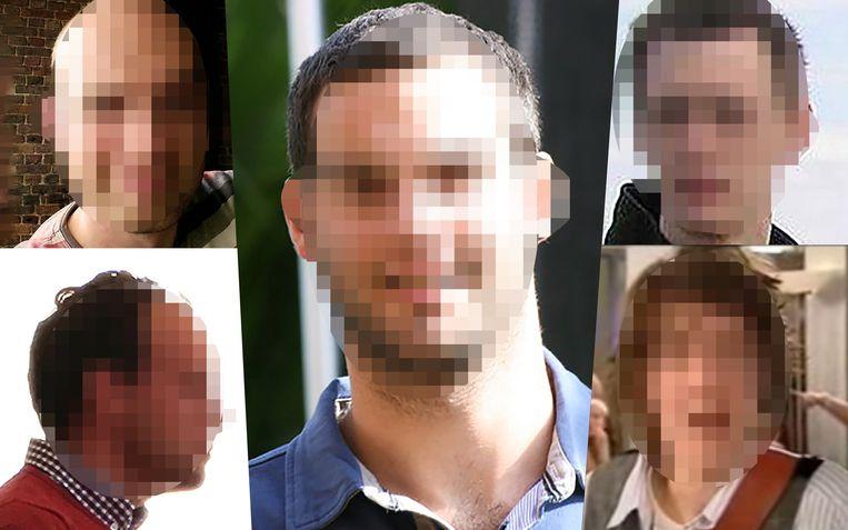 De vijf opgepakte pedofielen: Dimitry D., Michael T., Samuel K. uit Engeland, Niels M., en Lars de R. uit Nederland. Alle vijf zijn ze al eerder opgepakt of veroordeeld.