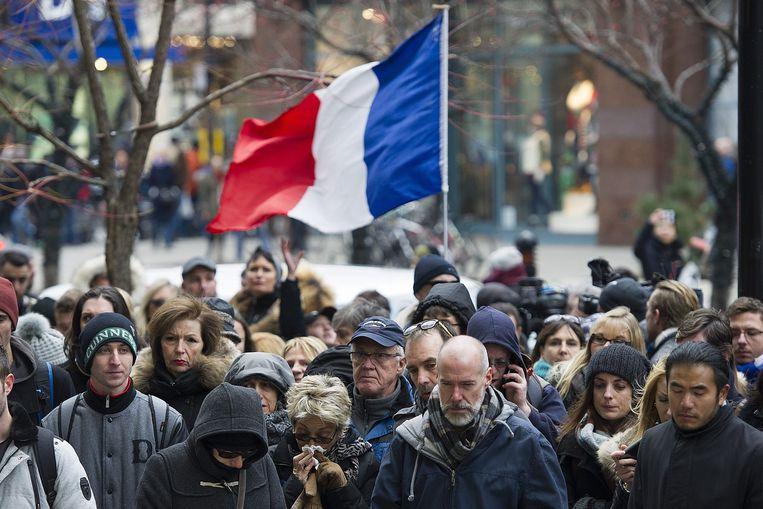 Zaterdag vond voor het Franse consulaat in Montréal nog een herdenkingsmoment plaats voor de slachtoffers van de aanslagen in Parijs.