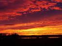 Zonsondergang in Wilsum. Foto: Johan van 't Veer