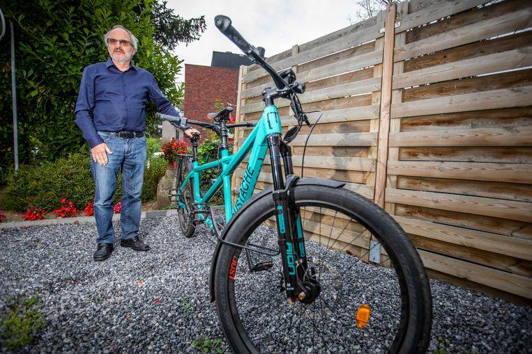 Slechtziende Michel Claesen uit Bilzen zocht een begeleider om mee te fietsen in Spanje.
