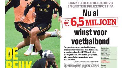 Nu al 6,5 miljoen euro winst voor voetbalbond
