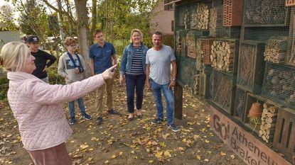 Leerlingen bouwen insectenhotel voor gemeente