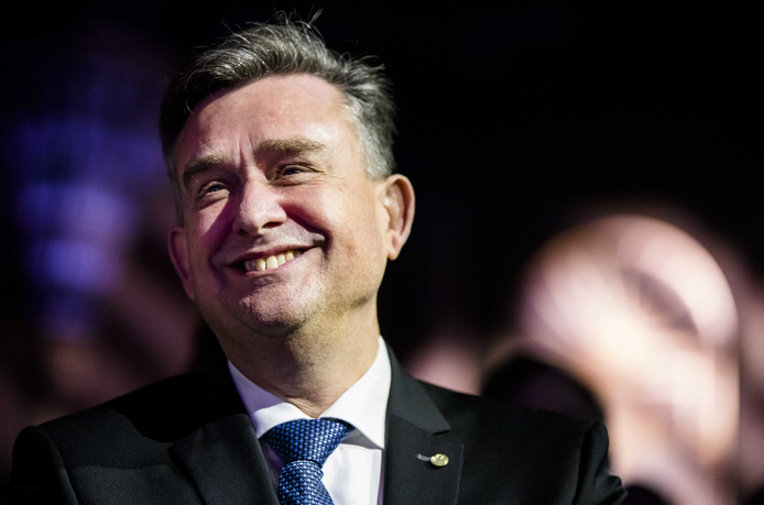 Emile Roemer bij zijn afscheid van de SP in de Tweede Kamer in januari 2018.
