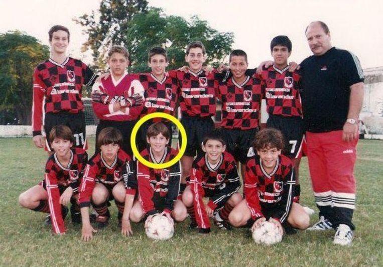 Messi bij het Argentijnse Newell's Old Boys.