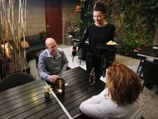 Glansrol voor saté bij Dani's huis in Etten-Leur