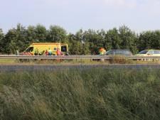 Motorrijder gewond door ongeval op A15, weg weer vrij