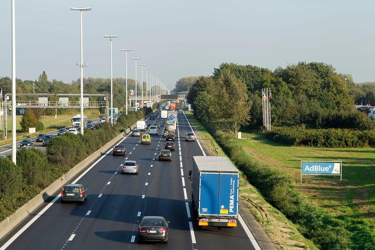 De spitsstrook op de E313 tussen Antwerpen-Oost en Ranst.