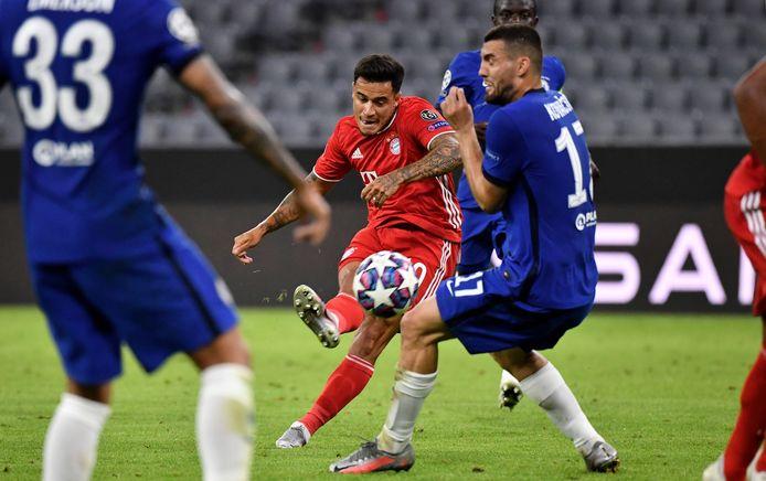 Coutinho in actie tegen Chelsea.