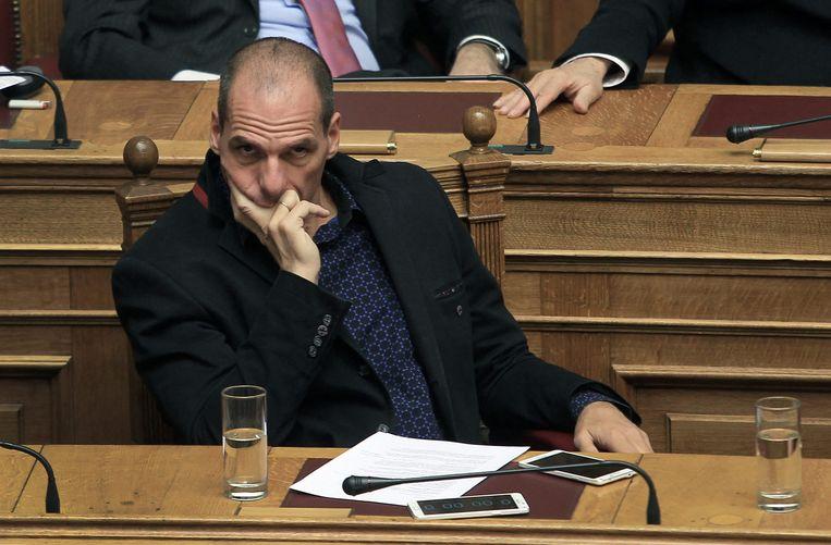 De Griekse minister Varoufakis van Financiën. Beeld epa