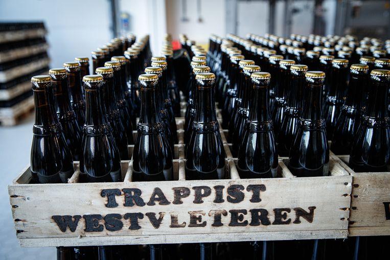 Illustration picture shows crates of beer at the Sint-Sixtusabdij (Abbaye Saint-Sixte - Saint-Sixtus Abbey), the Trappist brewery Westvleteren, Friday 14 June 2019 in Westvleteren. BELGA PHOTO KURT DESPLENTER