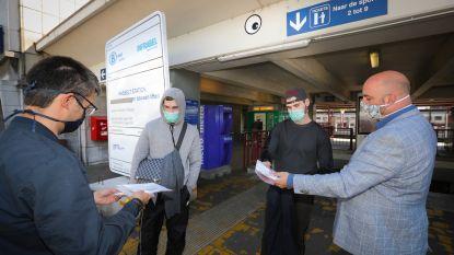 """PVDA deelt gratis mondmaskers uit aan station van Hasselt: """"Het kan niet dat mensen hun veiligheid moeten kopen aan woekerprijzen"""""""