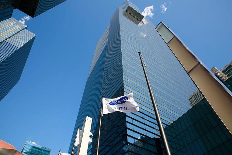 Het hoofdkantoor van Samsung in Seoul. Beeld EPA