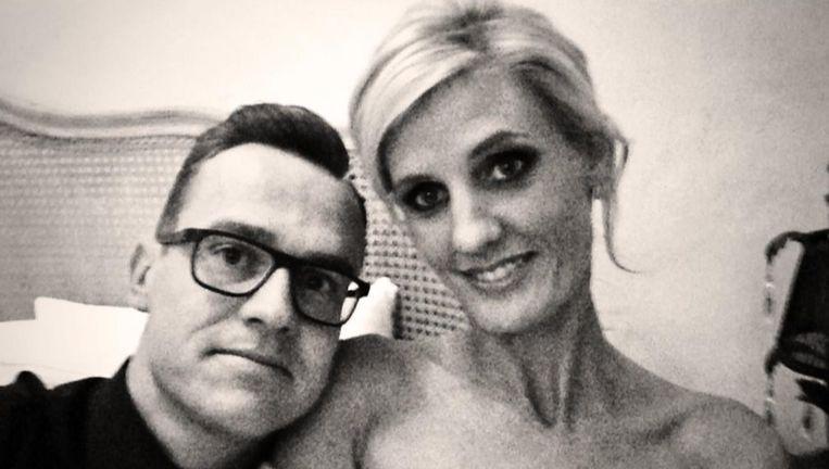 Nick Nuyens en zijn kersverse echtgenote Lynn, voor de renner van Garmin is het zijn tweede huwelijk.